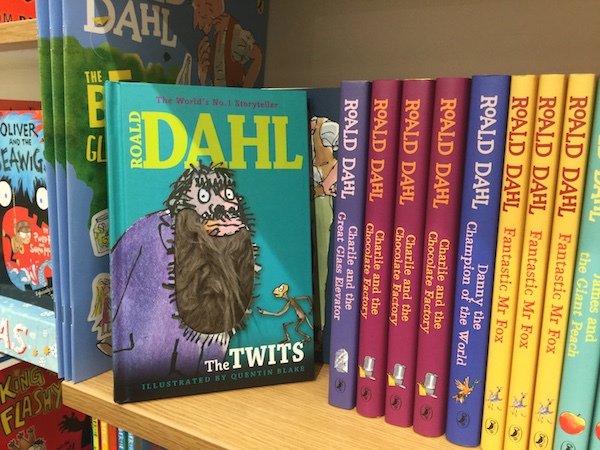 waterstones, wimbledon, the twits, roald dahll
