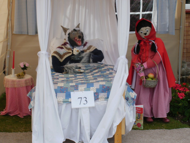 Elford Scarecrow Festival, Elford, scarecrows, Red Riding Hood