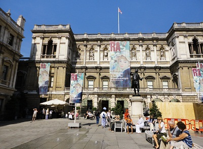 Outside the Royal Academy