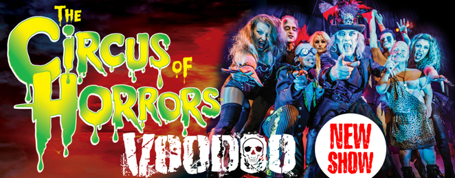 circus of horrors, circus of horrors voodoo, circus performers, adults only theatre, spooky, dark theatre