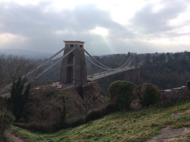 Clifton Suspension bridge as seen from the observatory side