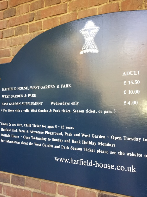 Hatfield House, Hertfordshire, Entrance, Fees, Opening Times