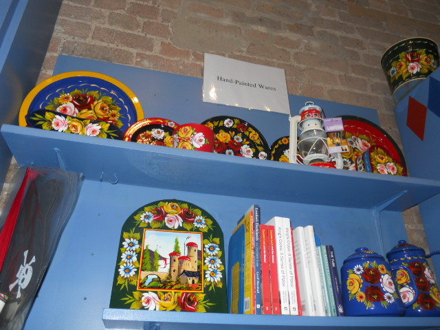london canal museum, gift shop, crockery