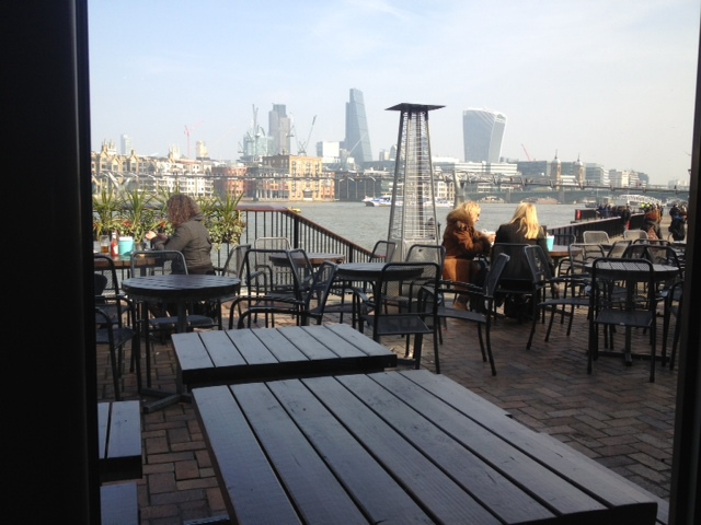 River view, lunch, Foundry Arms, Southwark, South Bank