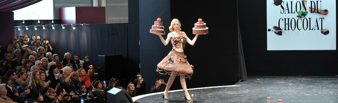 salon du chocolat, fashion show