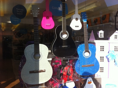 Sue Ryder, nettlebed hospice, charity shop, kidlington, oxfordshire, dolls house, guitar