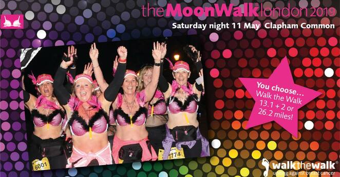 moonwalk, london, 2019, frundraiser, cancer, research, fun run, charity, volunteer, exercise
