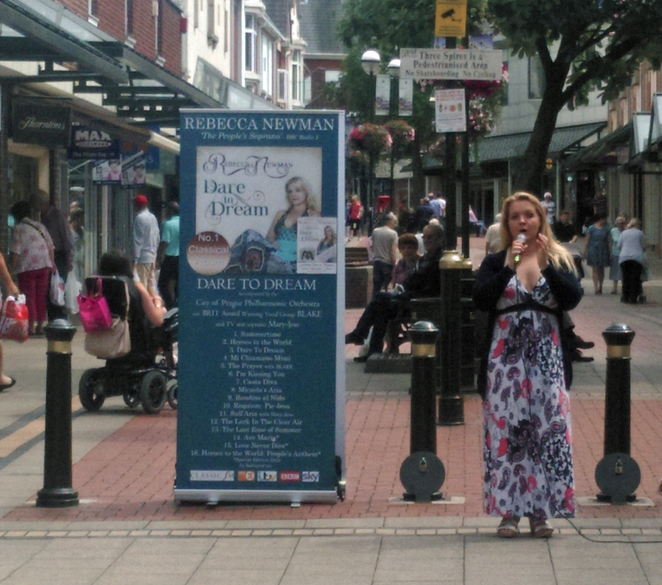 Rebecca Newman, People's Soprano, Lichfield, Garrick theatre, Three Spires Shopping Centre, Russell Watson