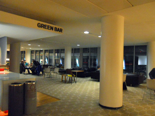 royal Festival Hall, green bar