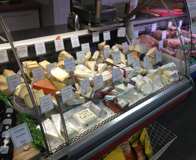 Cheese counter, Hartley Farm Shop and Cafe