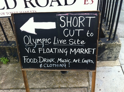 london 2012, olympics, signpost, sign, shops, shortcut