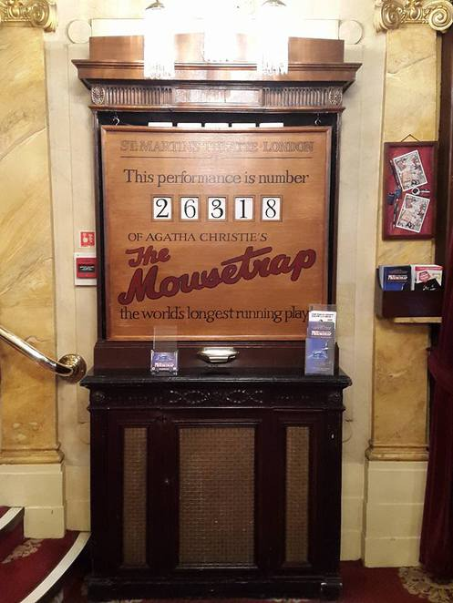mousetrap, murder, mystery, agatha, agatha christie, christie, the mousetrap, london, hatfield, herts, hertfordshire, theatre, st martins, play, whodunit, cluedo, longest play
