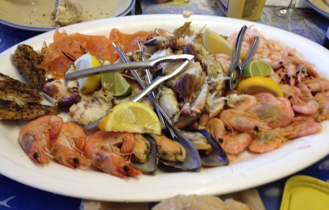 Seafood platter, The Company Shed, West Mersea, Essex