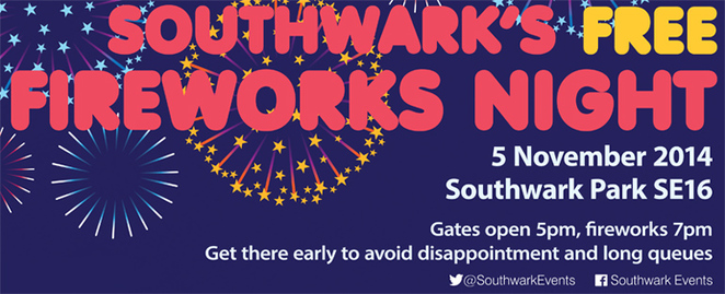 southwark council fireworks