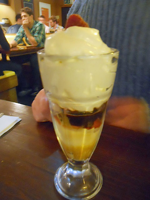 the exhibit, balham, diner, knickerbocker glory