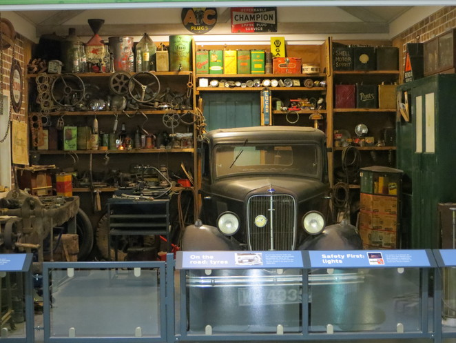 garage, car, british, motor, museum