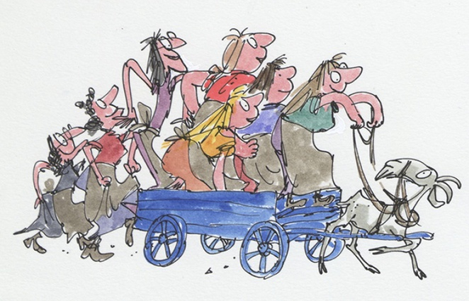 quentin blake, wild washerwomen, ouse of illustration, inside stories