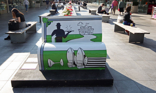 Books About Town BookBench Sculpture London