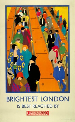 Brightest London is best reached by underground