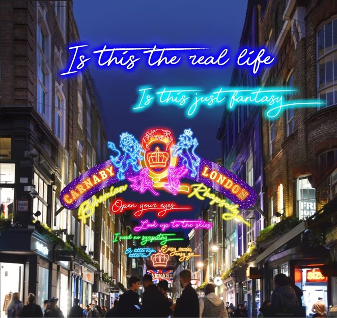 Carnaby Christmas Lights, London