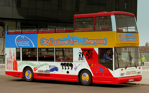 city explorer open top bus tour liverpool