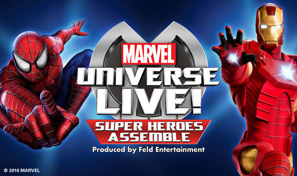 Marvel Universe Live!, Barclaycard Arena, Birmingham, top 10 Christmas shows