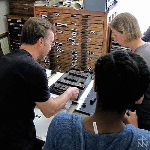 new north press, letterpress, workshop