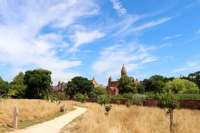quarr,abbey,isle of wight,england,island,estate,garden