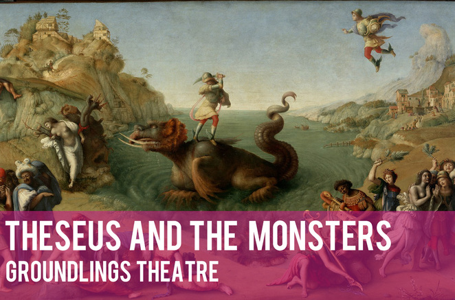 theseus and the monsters, groundlings theatre, picnic children's theatre, family theatre, childrens theatre, greek mythology