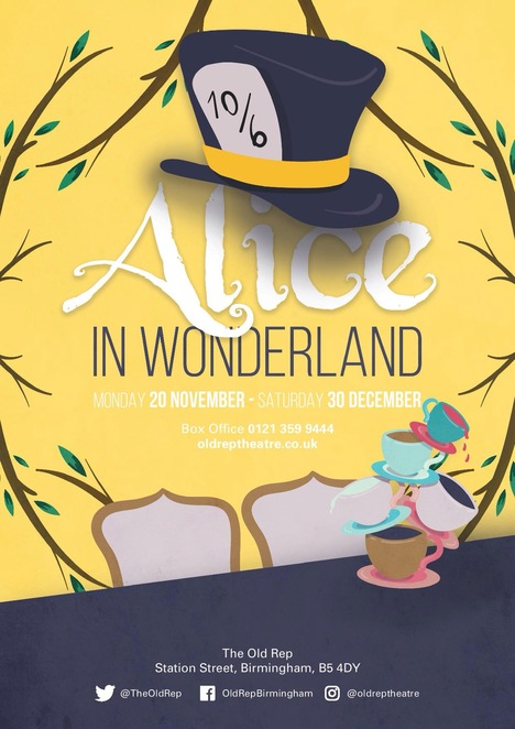 Alice in wonderland, old rep, Birmingham, Christmas shows