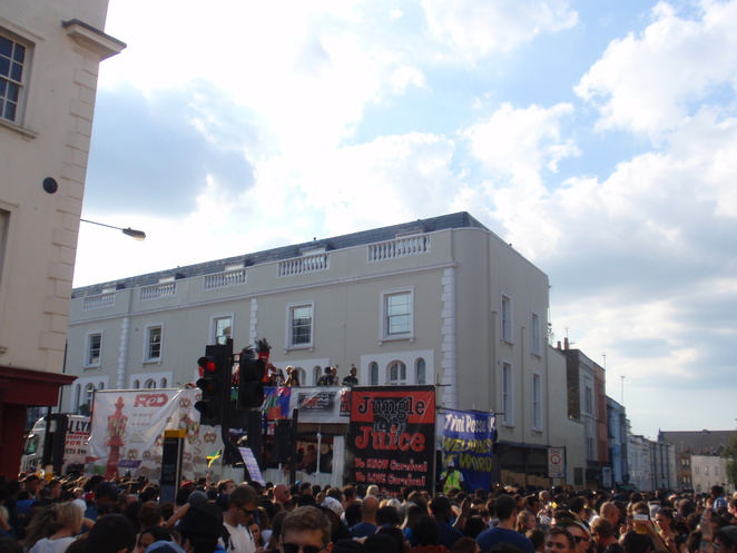 One of the parades at Notting Hill Carnival