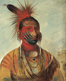 fast dancer, national portrait gallery, george caitlin, american indian portraits