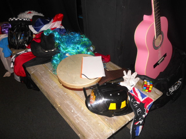 the rubiks, a night on the cube, leicester square theatre, the lounge, props