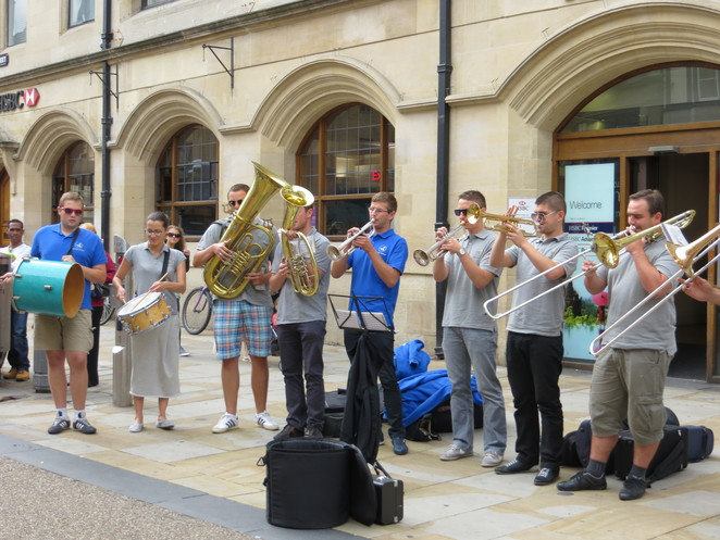 brass, band, cornmarket, oxford