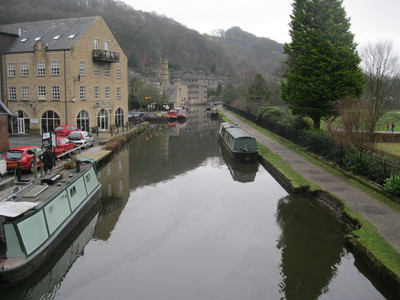 Canal view, Bridge, Hebden Bridge, Yorkshire