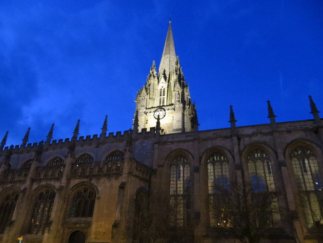 oxford, st mary's church, spire