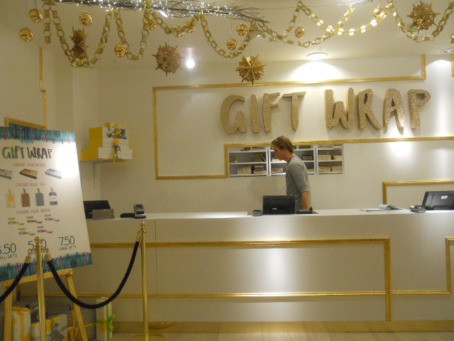 selfridges, christmas emporium, destination christmas, gift wrapping