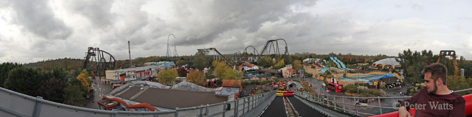 View over Thorpe Park