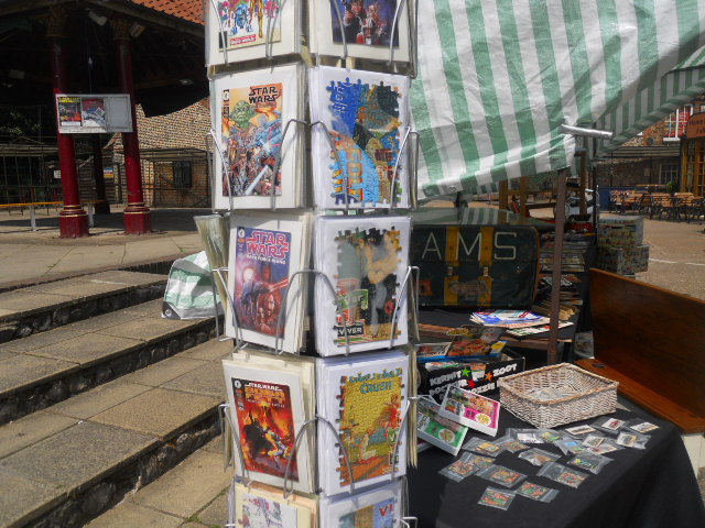abbey mills, antique market, greetings cards, star wars