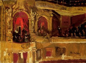 music hall, sickert and the three graces, victoria and albert museum