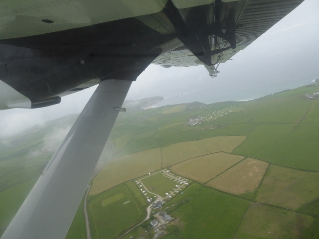 Taking off from Lands End Airport