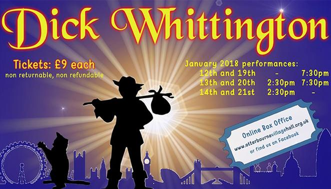 dick whittington, pantomime, otterbourne village hall, otterbourne drama club, christmas pantomime