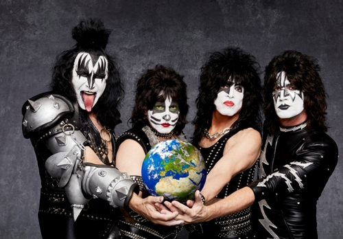 Kiss, Kissworld tour, Gene Simmons, Paul Stanley, Tommy Thayer, Eric Singer, Birmingham Barclaycard Arena