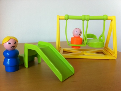 playpark, vintage, fisher price, slide, swing set