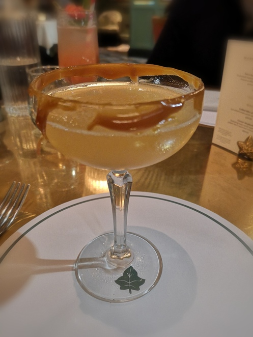 The Ivy, toffee apple Martini, Halloween autumn menu and drinks Birmingham