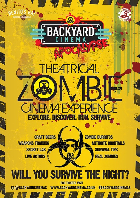 backyard cinema, zombie apocalypse