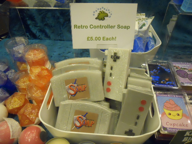 london film and comic convention, retro games, soap