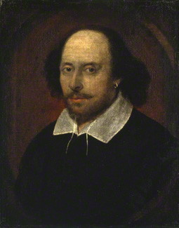 national portrain gallery, William Shakespeare associated with John Taylor circa 1600-1610 NPG 1