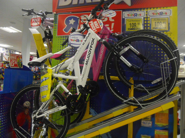 colliers wood, priory retail park, toys r us, bikes