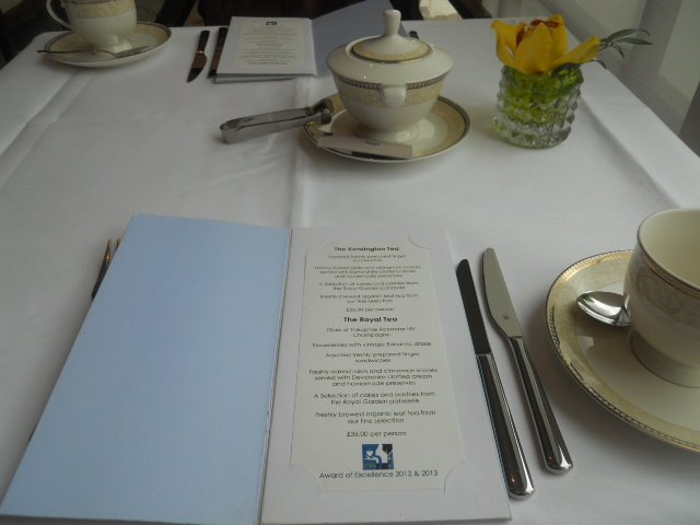 kensington royal garden hotel, afternoon tea